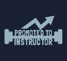 Promoted to Instructor with weights Kids Tee
