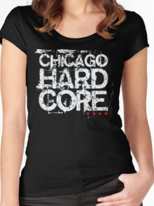 Chicago Hardcore (v1) Women's Fitted Scoop T-Shirt
