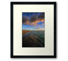 S. Brouhard Beach at Sunset - Venice, FL Framed Print