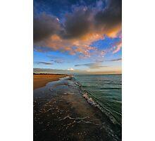 S. Brouhard Beach at Sunset - Venice, FL Photographic Print