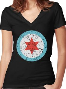 Chicago Insignia Women's Fitted V-Neck T-Shirt