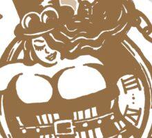 BBW - Buxom Steampunk Tart (sepia version) Sticker