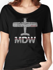 Fly Chicago MDW Airport Women's Relaxed Fit T-Shirt