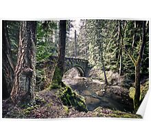 Stone bridge over a creek in the forest - wall art - The Old Bridge Poster