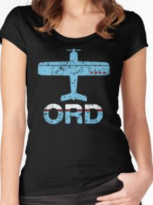 Fly Chicago ORD Airport Women's Fitted Scoop T-Shirt