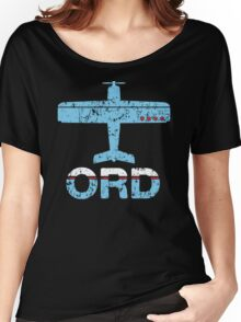 Fly Chicago ORD Airport Women's Relaxed Fit T-Shirt