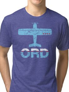 Fly Chicago ORD Airport Tri-blend T-Shirt