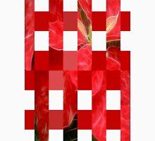 Mottled Red Poinsettia 1 Ephemeral Art Rectangles 15 Unisex T-Shirt
