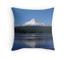 Trillium Lake at Mt Hood, Oregon Throw Pillow