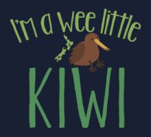 I'm a WEE little kiwi with New Zealand map Kids Tee