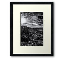 Landscape and architecture wall art black and white - The Bold Bridge Framed Print