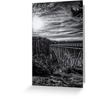 Landscape and architecture wall art black and white - The Bold Bridge Greeting Card