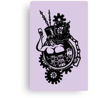 BBW - Buxom Steampunk Tart (line version) Canvas Print
