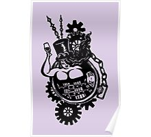 BBW - Buxom Steampunk Tart (line version) Poster
