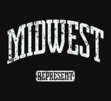 Midwest Represent (White Print) Kids Tee