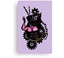 BBW - Buxom Steampunk Tart (colour version) Canvas Print