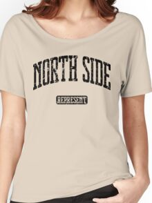North Side Represent (Black Print) Women's Relaxed Fit T-Shirt