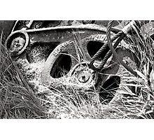 Black and white film industrial photography old machinery parts - Ferri Abbandonati Photographic Print
