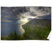 Landscape on the Mediterranean sea sunset naturalistic fine art - Mare d'Estate Poster