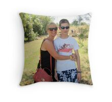 Sian and Chris, Baratti. Throw Pillow