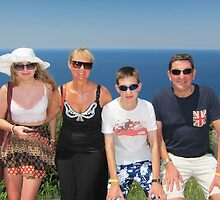 Eleanor, Siân, Chris and Colin at Baratti by Colin Leal