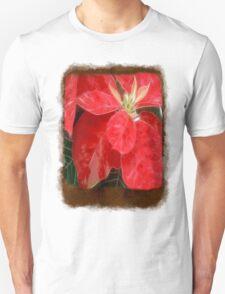 Mottled Red Poinsettia 1 Ephemeral Blank P3F0 T-Shirt
