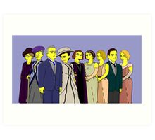 Downton Abbey - Cast of Nine Art Print