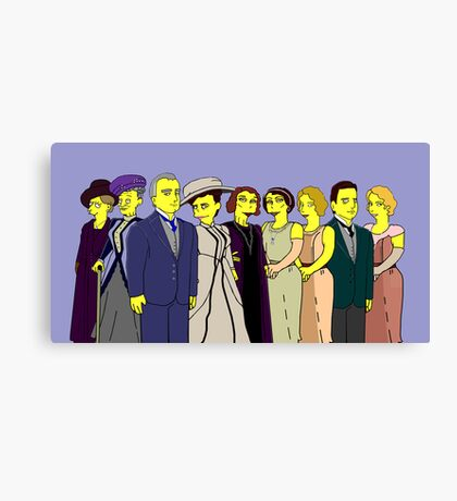 Downton Abbey - Cast of Nine Canvas Print
