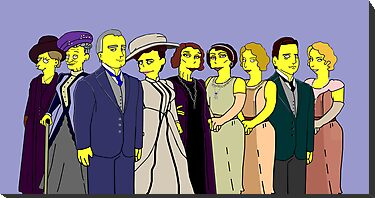 Downton Abbey - Cast of Nine by Donna Huntriss