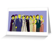 Downton Abbey - Cast of Nine Greeting Card