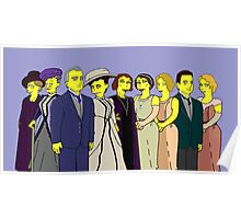 Downton Abbey - Cast of Nine Poster