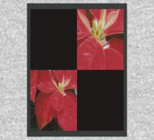 Mottled Red Poinsettia 1 Ephemeral Blank Q2F0 One Piece - Long Sleeve