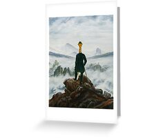 Art Giraffe- Wanderer Above The Sea Of Fog Greeting Card
