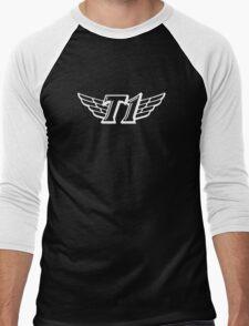 SKT T1 white huge logo Men's Baseball ¾ T-Shirt