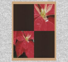 Mottled Red Poinsettia 1 Ephemeral Blank Q3F0 Kids Tee