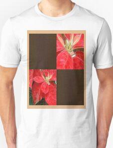 Mottled Red Poinsettia 1 Ephemeral Blank Q3F0 T-Shirt
