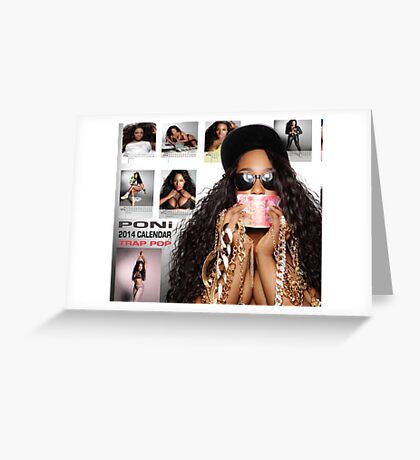 Poni 2014 Calendar Back Cover Greeting Card