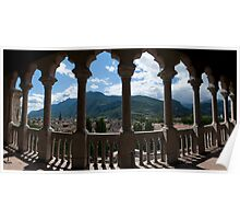 View of Trento from the Buonconsiglio castle old cities of Europe in the Alps landscape panoramic color - Sguardi dal passato Poster