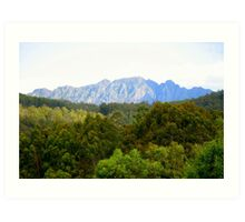 photography - mt roland, tasmania Art Print