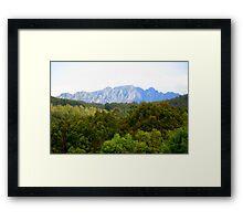 photography - mt roland, tasmania Framed Print