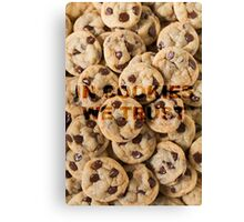 IN COOKIES WE TRUST Canvas Print
