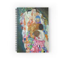 Gustav Klimt - Death and Life Spiral Notebook