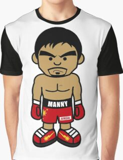 Angry Manny Pacquiao Cartoon by AiReal Apparel Graphic T-Shirt
