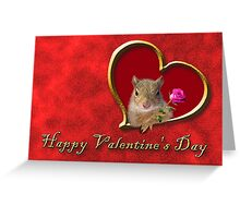 Valentine's Day Squirrel Greeting Card