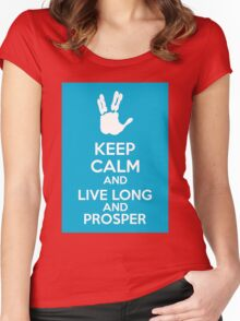 Keep Calm And Live Long And Prosper Women's Fitted Scoop T-Shirt