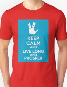Keep Calm And Live Long And Prosper Unisex T-Shirt