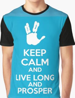 Keep Calm And Live Long And Prosper Graphic T-Shirt