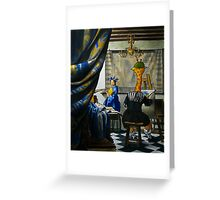 Art Giraffe- Allegory of Painting Greeting Card