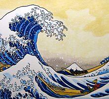 Art Giraffe- The Great Wave Off Kanagawa by Sundayink