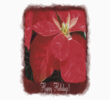 Mottled Red Poinsettia 1 Ephemeral Happy Holidays P5F1 Kids Clothes